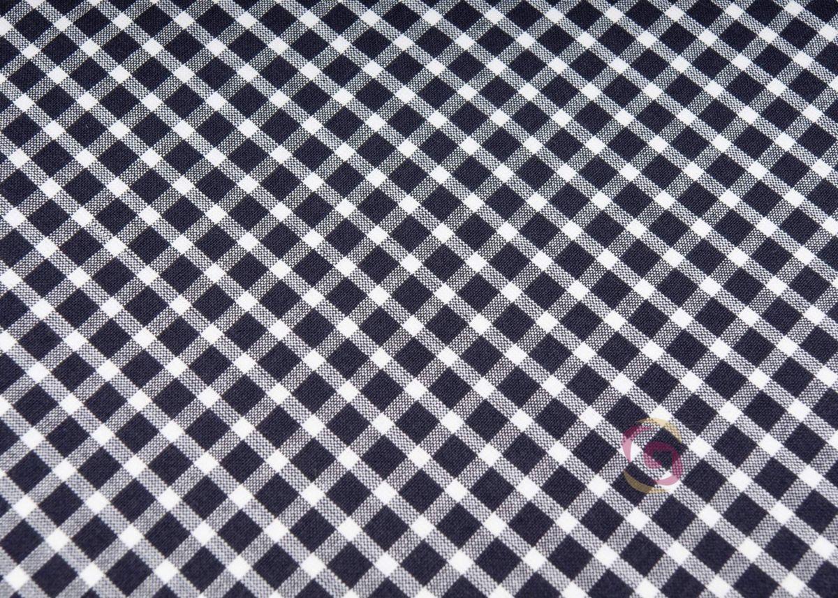 ffed28559446 Bavlněná látka KANAFAS - šířka 150cm - vzor 014 kostka malá černobílá