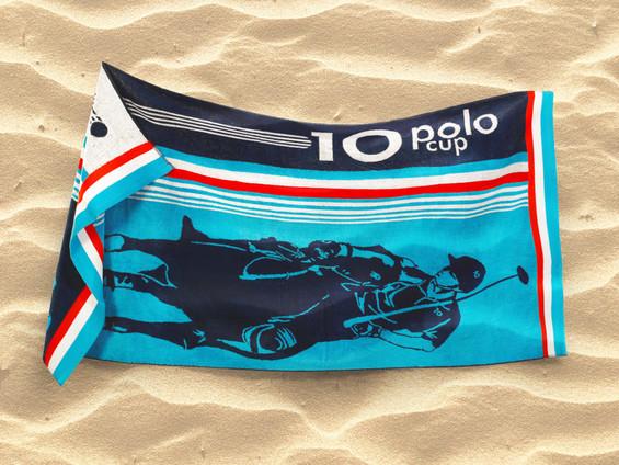 Plážová osuška modrá - vzor POLO